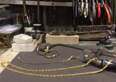 gouden ketting sieraad reparatie