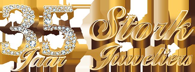 stork juweliers 35 jaar logo